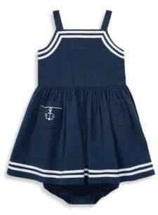 Ralph Lauren Baby's Two-Piece Cotton Seersucker Dress and Bloomers Set