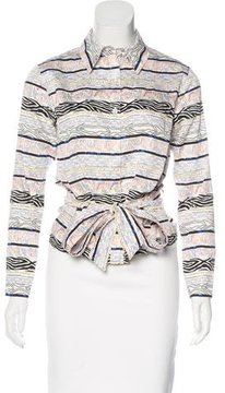 Creatures of the Wind Belted Button-Up Top