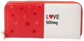 Alice + Olivia Women's Love Pill Leather Zip Around Wallet