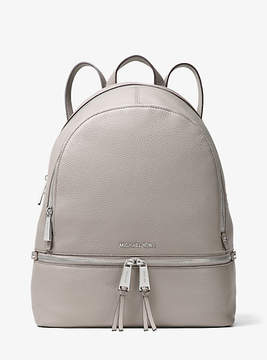 Michael Kors Rhea Large Leather Backpack - GREY - STYLE
