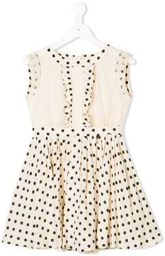 Elisabetta Franchi La Mia Bambina ruffled polka dot dress