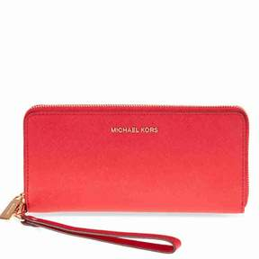 Michael Kors Jet Set Tavel Leather Continental Wallet - Bright Red - BRIGHT RED - STYLE