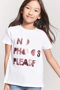 Forever 21 Girls No Photos Please Tee (Kids)