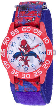 Marvel Spiderman Boys Blue Strap Watch-Wma000192
