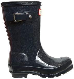 Hunter Glittered Rubber Rain Boots