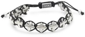 King Baby Studio Sterling Silver Macrame Bracelet