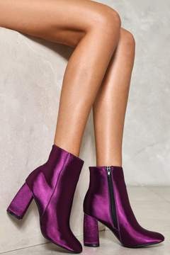 Nasty Gal nastygal Moonlight Mile Satin Boot