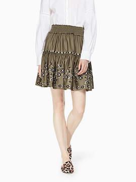 Kate Spade Embroidered poplin skirt