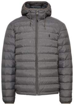 Ralph Lauren Packable Hooded Down Jacket Windsor Heather L