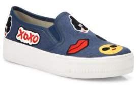 Alice + Olivia Pia Emoji Slip-On Sneakers