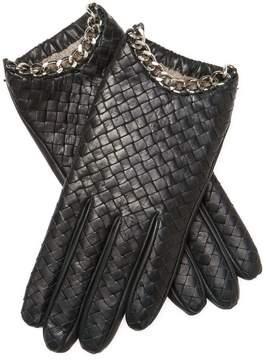 Portolano Women's Chain Leather Gloves