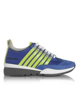 DSQUARED2 Men's Blue Fabric Sneakers.