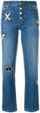 Each X Other button patch jeans