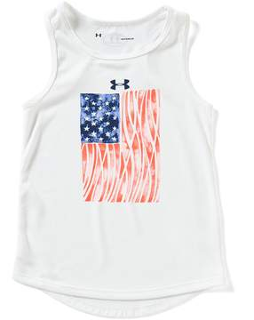 Under Armour Little Girls 2T-6X Americana Flagged Tank Top