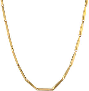 JCPenney FINE JEWELRY Mens Stainless Steel & Gold-Tone IP 22 2mm Link Chain