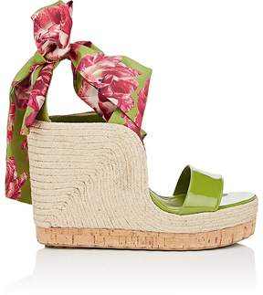 Salvatore Ferragamo Women's Patent Leather Wedge Espadrille Sandals