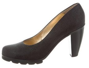 Walter Steiger Round-Toe Textured Pumps