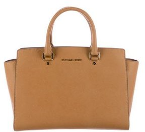 MICHAEL Michael Kors Saffiano Leather Satchel - BROWN - STYLE