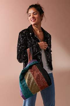Urban Outfitters Glitter Striped Shopper Tote Bag