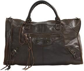Balenciaga Work Brown Leather Handbag