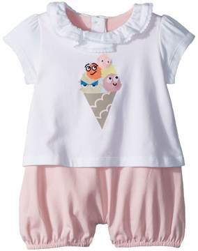 Fendi Romper w/ Collar Ice Cream Graphic Girl's Jumpsuit & Rompers One Piece