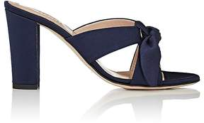 Barneys New York Women's Bow-Detailed Satin Mules