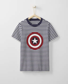 Hanna Andersson Marvel Captain America Sueded Jersey Art Tee