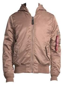 Alpha Industries Full Zip Hooded Bomber Jacket