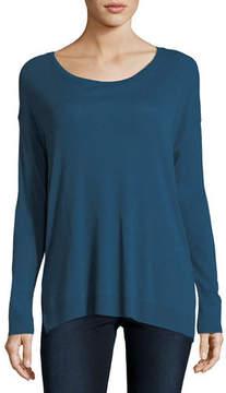 Neiman Marcus Majestic Paris for Cotton/Cashmere Long-Sleeve Crewneck T-Shirt