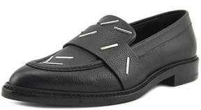 Christopher Kane Staples Penny Loafer Women Pointed Toe Leather Black Loafer.