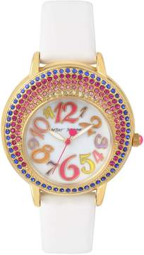 Betsey Johnson CRESCENT CRYSTALS MULTI WATCH