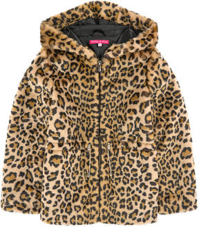 Derhy Kids Imitation leopard fur coat