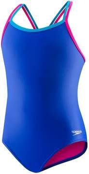 Speedo Girls 7-16 Crossback One-Piece Swimsuit