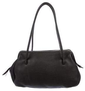 Miu Miu Contrast-Stitched Leather Shoulder Bag