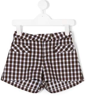 Dondup Kids gingham check shorts