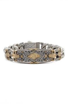 Konstantino Men's Myrmidones Fleur De Lis Bracelet