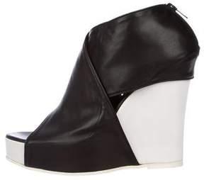 Ann Demeulemeester Leather Platform Wedges