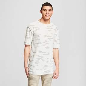 Jackson Men's Raw Edge Drop Shoulder Short Sleeve T-Shirt Natural