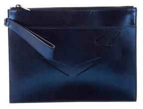 Reece Hudson Metallic Leather Clutch