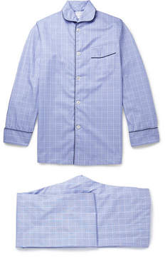 Turnbull & Asser Kingsman + Blue Prince Of Wales Checked Cotton Pyjamas