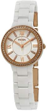 Fossil Virginia Crystal White Dial Ladies Watch
