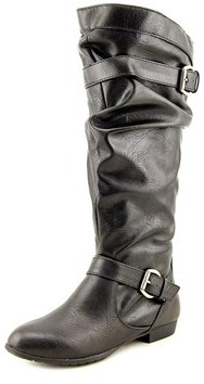 Rampage Basking Round Toe Synthetic Knee High Boot.