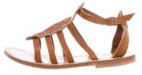 K Jacques St Tropez Leather Multistrap Sandals