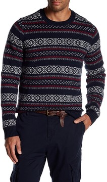 Joe Fresh Fair Isle Crew Neck Sweater