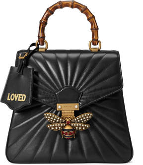 Gucci Queen Margaret quilted leather backpack - BLACK QUILTED LEATHER - STYLE