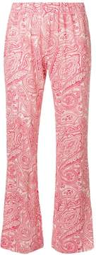 Le Tricot Perugia paisley flared trousers