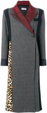 Alberto Biani contrast panelled coat