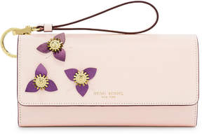 Henri Bendel Uptown Out & About Flower Appliqued Organizer Wallet