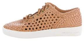 Michael Kors Woven Leather Sneakers