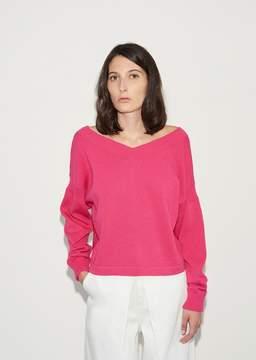 Aalto Wide V-Neck Sweater Fuchsia Size: FR 34